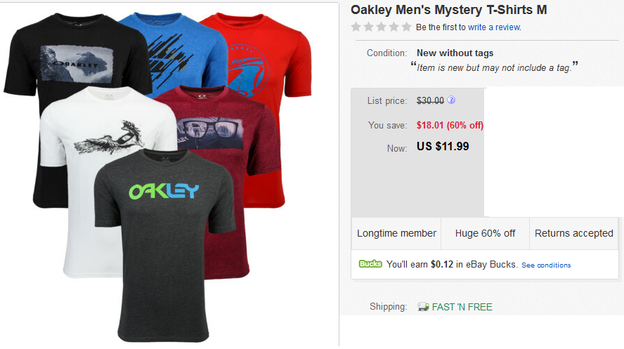 Oakley tshirts on sale
